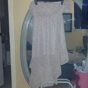 Beige/ pink strapless Dress